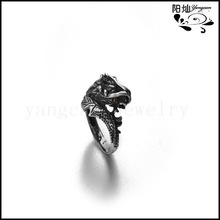 Punk New Gift, Huge Heavy Solid Silver Jewelry, Fashion Biker Gothic Man Boy's Fashion Stainless Steel Ring