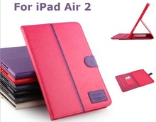 for iPad Air 2 (iPad 6) Case Cover bookstand cover with tpu case