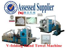 Interfolding Hand Towel Paper Machine Steel to Steel Embossing