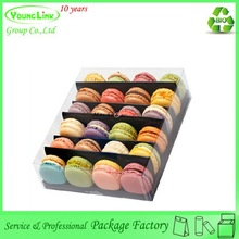 Special design plastic clear macaron packaging box
