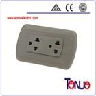 South American 2 Gang 3 Pin Electric Wall Socket