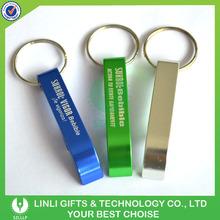 Customized Logo Promotion Aluminium Bottle Opener Keyring