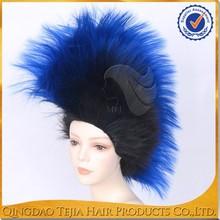 Tangle free no shedding top grade fashion wholesale blue lace wigs