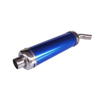 Blue color thin pit bike performance exhaust motorcycle universal mufflers