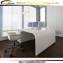 U-shape free standing faux stone/solid surface fancy high gloss office executive desk
