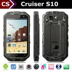 Cruiser S10 2000mah battery 1GB+16GB 2mp+13mp camera ip68 waterproof GPS/3G/WIFI waterproof led driver ip67