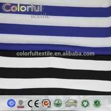 2014 hot sales blue/ black white stripe milk silk fabric manufacturers