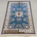 En miniatura 2.5'x4' 100% persa de seda nudo simple livinf sala de alfombras hechas a mano/alfombras