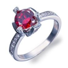 925 silver red zircon rings 2014