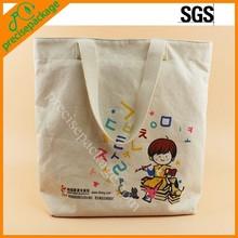 Custom eco-friendly 100% cotton canvas tote bag
