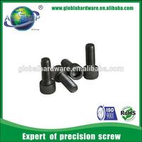 Low carbon steel allen key head screw, full thread knurled head cap screw