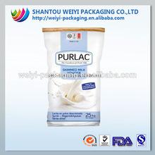 25kg full cream milk powder packing plastic bag