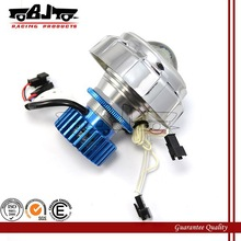 BJ-HL-003 High quality 18W LED aluminum bi-xenon projector headlight motorcycle with dual angel eyes