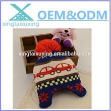 Baby Boy Children crochet knit earmuff winter set beanie hat