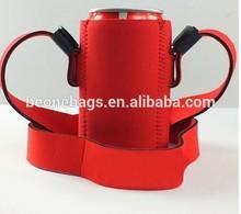 china reusable bottles holder frozen red beer can shape cooler