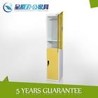 Vertical wicker bathroom 2 tier clothes storage cabinet locker