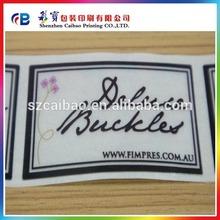 soft PVC transparent label , plastic label sticker