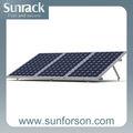 Plana solar de techo de montaje del carril, de aluminio extruido solar ferrocarril