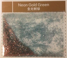 Neon Gold Green Glitter For Nail Polish Eye shadow Lips Shoes Handicrafts Cloth Leather etc