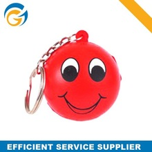 Hotselling Stress Smily Ball Keyring PU Squeeze Toy