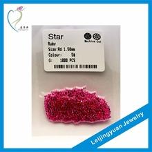 Wuzhou factory round aaa gemstone ruby