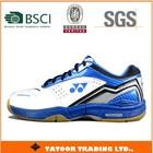 thick sole nice design blue color cheap badminton shoes
