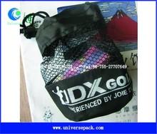 small nylon mesh gift bag with drawstring