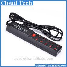 Super Speed10 Port USB Charging Station HUB with US Plug Multi-use Power Adapter