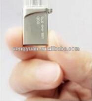 Hot sale made in china OEM custom promotional gift mini OTG mobile phone usb flash drive