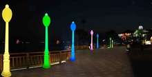 ed plastic cube chair/led night club chairs/colored led chairs