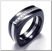 2013 Glitter Hot cz RING stainless steel fashion women jewelry