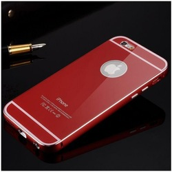 2014 New product Luxury Metal aluminum Bumper phone Case for iphone6, for iphone 6 case with back cover with 6 colors