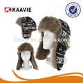siyah kürk Tuzakçı şapka bombardıman kış kap havacı sıcak faux kulak kapağı kayak rusça