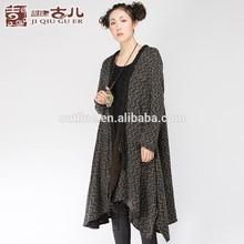Classy Elegant Design Cowl Neck Irregular Hem Long Loose Hand Knitwear Cardigan Manufacturers