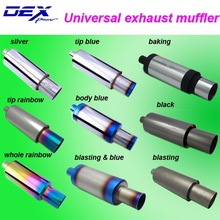 Tianyu DEX universal auto chrome muffler in exhuast system