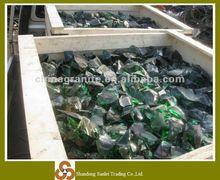 green beer bottle glass cullet