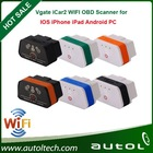 2014 New Arrival Vgate WiFi iCar 2 OBDII ELM327 iCar2 wifi vgate OBD diagnostic interface for IOS iPhone iPad Android 6 colors