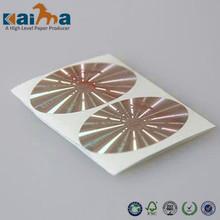 Product quality warranty hologram label,3d hologram stickers,Custom hologram PVC film