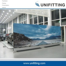 UF-GDQ-01 fabric metal 4s car shop decorative partition wall