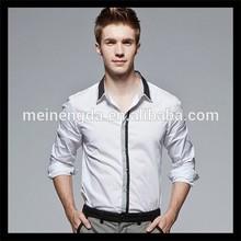 new style leisure black white men's fashion shirts