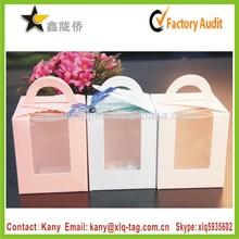 2015 single cupcake boxes,individual cupcake boxes,PVC window clear plastic cupcake boxes
