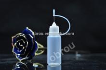 Wholesale PE 15ML Needle Dropper Bottles With Safe Tips ,Plastic bottles E-cigarette Plastic Dropper Bottles