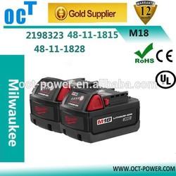 Free shipping ! Milwaukee 18v tools battery M18 XC LITHIUM-ION Battery 4.0Ah Milwaukee 18V Battery