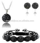 shamballa bracelet earring beads