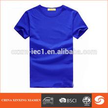 hot sale color royal blue blank 100% pima cotton blank t-shirt