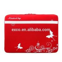 new arrival red black alibaba hot sales custom printed neoprene laptop sleeve