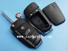 SHOCK PRICE &Aftermarket Seat 3 button copy remote key shell with logo no blade for seat toledo