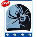 yeni ürün 2014 toptan çin üretimi oem özel logo örümcek kafatası jakarlı kış erkek akrilik bere şapka ve kasket