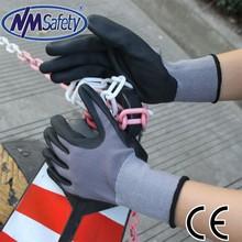 NMSAFETY nylon liner foam nitrile coated nitrile fda approved nitrile gloves