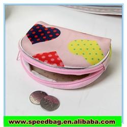 fashion !semicircular zero wallet woman wallet silk bag